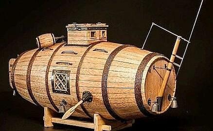 Model houten duikboot